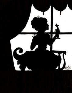 Alice In Wonderland Silhouette Clip Art | Silhouette Conversations by ...