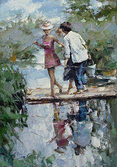 artist Zaitsev Alexi, Funny fishing story