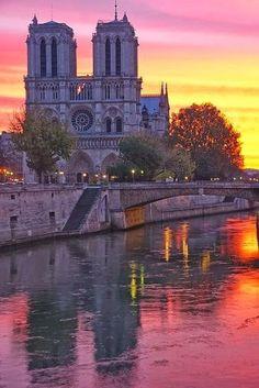 Notre Dame de Paris ~ Summer Sunset