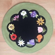 Pretty Penny Precuts May Day Candle Mat featuring Sizzix Flower Die Cuts