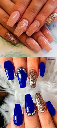 The Best Coffin Nails Ideas That Suit Everyone Nail Ideas nail ideas royal blue Acrylic Nails Coffin Matte, Blue Stiletto Nails, Blue Matte Nails, Black Nails With Glitter, Blue Coffin Nails, Chrome Nails, Bling Nails, Fun Nails, Simple Nails Design