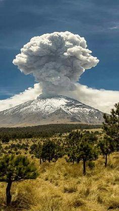 Volcán el Popocatepetl.