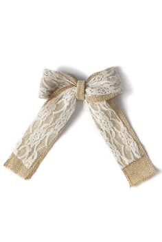 "6"" Natural Burlap Lace Bows Chic Wedding Decor Chair Pew Ends Wreath Bow #Lingsmoment"