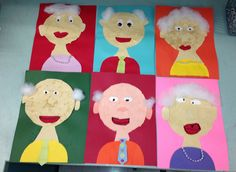 Jan week Apex Elementary Art: when I'm 100 years old - FOR day 100 Day Of School Project, School Art Projects, 100 Days Of School, School Holidays, Art School, Project 100, 100 Day Celebration, First Grade Art, Ecole Art