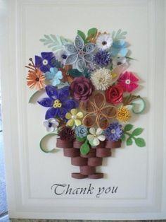 Thank you card #papercraft #handmade