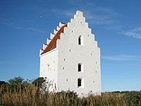 The old church in Skagen drowning in sand