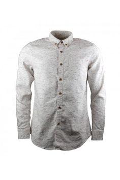 Farah 1920 Men's Maurice Ecru Cotton Linen Shirt