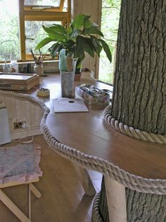 so cool- inside the treehouse