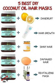 Your hair needs its natural oils to stay healthy. We found 5 of the best coconut oil hair masks which can help you to solve almost all your hair problems. hair tips Top Best DIY Coconut Oil Hair Masks for Every Hair Trouble Coconut Oil Hair Treatment, Coconut Oil Hair Growth, Diy Coconut Oil Hair Mask, Best Coconut Oil, Coconut Oil Uses For Skin, Coconut Oil Diys, Coconut Oil Face, Coconut Oil Benefits, Coconut Oil For Dandruff