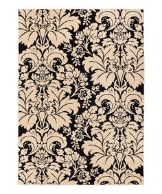 This Black Sydney Damask Toile Rug by Well Woven is perfect! #zulilyfinds