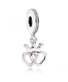 Pandora UK Crowned Hearts Pendant Charm 791963cz