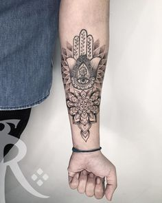 Sleeve tattoos - Forarm tattoos - Hamsa tattoo - Buddha tattoos - Hamsa hand tattoo - Tattoo d Hamsa Hand Tattoo, Hand Tattoos, Hamsa Tattoo Design, Forarm Tattoos, Buddha Tattoo Design, Ganesha Tattoo, Tattoo Designs, Tattoo Ideas, Tatoos