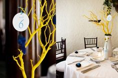 Ideas for Table Names and Numbers , Wedding Reception Photos by Design With Chon
