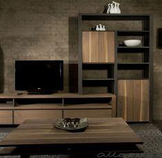 Noten tv-meubel Heech-en-Leech is een tv-meubel en kast in één - Woonwinkel Alle Pilat
