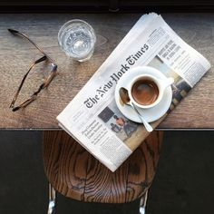 coffe and the paper