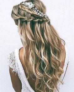 Bridal hair style �� bridalfashion http://gelinshop.com/ipost/1516519437624469335/?code=BULwmTGlOdX