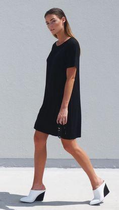 TGB Eco Bamboo Clothing - Black Luna Bamboo Short Dress