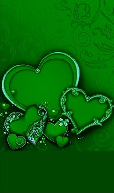 By Artist Unknown. Bling Wallpaper, Heart Wallpaper, Green Wallpaper, Cool Wallpaper, Wallpaper Backgrounds, Iphone Wallpaper, Green Carnation, Huawei Wallpapers, Relaxing Colors