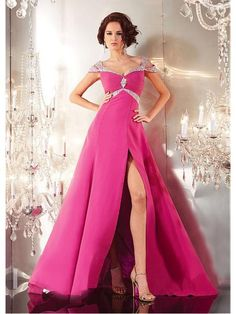 Alluring Chiffon Off-the-shoulder Neckline A-line Evening Dress Nz/Ball Dress Auckland In New Zealand With Train