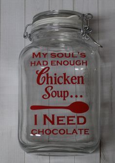 Candy Jars Glassware Chocolate Funny Sayings Gifts