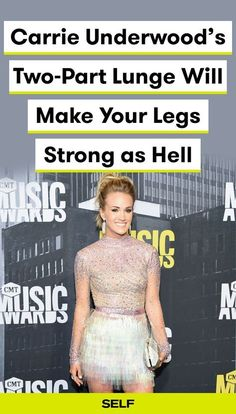 Carrie Underwood's Two-Part Lunge Will Make Your Legs Strong as Hell Carrie Underwood's leg workout will make you really feel the burn! Her two-part lunge move works your booty, hamstrings, and quads. Here's how to try the exercise for yourself! Carrie Underwood Workout, Carrie Underwood Legs, Leg Workout Challenge, Leg Workout At Home, Mommy Workout, Ladder Workout, Leg Routine, Fast Workouts, Inner Leg Workouts