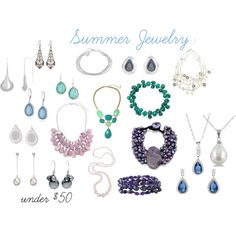 Summer Jewelry under $50 by expressingyourtruth on Polyvore featuring DaVonna, Kensie, Lord & Taylor, John Lewis, Tressa, Susan Caplan Vintage, Nine West, Alexa Starr, Jessica Simpson and Sterling Essentials