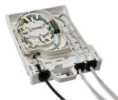 Caja de empalme / para fibra óptica OptiBox4 HUBER+SUHNER