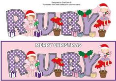 Christmas Fairies RUBY large dl on Craftsuprint by Designer Eva Cano