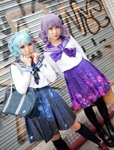 "Color: blue. purple.  Size:S. M. L.  Size S:Length:45 cm/17.55"". Waist:62-68 cm/24.18'-26.52"".  Size M:Length:45 cm/17.55"".  Waist:62-70 cm/24.18""-27.30"".  Size L:Length:45 cm/17.55"". Waist:64-74 cm/24.96"".-28.86"".  Fabric material: cotton.  Tips: *Please double check above size and..."