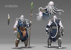 ArtStation - The Gorgon, Ignacio Felechosa Fantasy Character Design, Character Design Inspiration, Character Concept, Character Art, Creature Concept Art, Creature Design, Dnd Characters, Fantasy Characters, Dark Fantasy