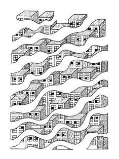 Screen Prints by Timothée Babaud, via Behance Illustration Design Graphique, Art Graphique, Graphic Illustration, Graphic Art, Arte Popular, Grafik Design, Art Plastique, Graphic Design Inspiration, Textures Patterns