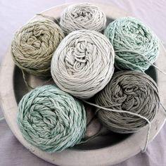 Selection of crochet yarn by Vinni's colours. Yarn available wholesale in Europe via www. Wool Thread, Thread Crochet, Crochet Yarn, Knitting Wool, Wool Yarn, Grandma Crafts, Yarn Color Combinations, Yarn Inspiration, Yarn Stash
