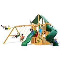 Gorilla Playsets Mountaineer Clubhouse Residential Wood Playset With S