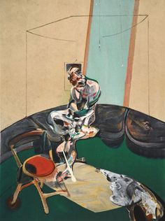 """Francis Bacon """"George Dyer Staring at Blind Cord"""", limited edition lithograph, produced in 1966 and pressed on quality velin de rives paper. This """"Deluxe Edition"""" Derrière Le Miroir, first edition, lithograph is limited to 150 pieces world wide. Francis Bacon, Modern Art, Contemporary Art, Art Images, Illustration, Expressionism, Paintings, Artworks, Dibujo"""