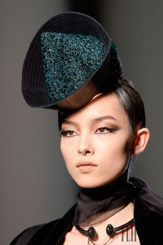 ⍙ Pour la Tête ⍙ hats, couture headpieces and head art - Jean Paul Gaultier Headdress, Headpiece, Millinery Hats, Sinamay Hats, Tam O' Shanter, Occasion Hats, Types Of Hats, Cocktail Hat, Love Hat