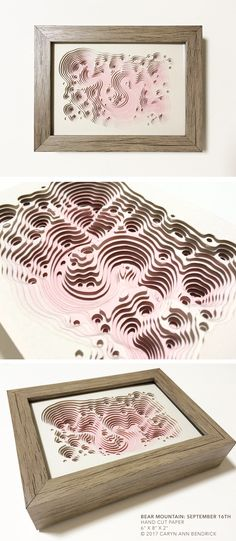 The fine paperworks of Caryn Ann Bendrick, an artist whose paper based works are tactile meditations on repetition and the dichotomy of destruction and creation. Modern Art, Contemporary Art, Bear Mountain, Papercutting, Paper Artist, Cut Paper, Art Object, Geometry, Wedding Planning