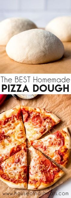 This is the BEST homemade Pizza Dough recipe for a crispy and chewy crust with great flavor. It's the perfect base for your favorite pizza toppings! Pizza Recipes, Cooking Recipes, Pizza Doigh Recipe, Home Made Pizza Dough Recipe, The Best Homemade Pizza Dough Recipe, Healthy Pizza Dough, Italian Pizza Dough Recipe, Easy Pizza Dough, Dinner Ideas