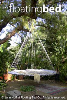 Outdoor hanging bed diy trampoline i wanna sleep on this for Outdoor hanging beds for sale