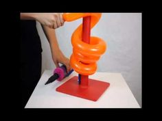 A short demonstration of the E-Z Twist balloon twister. This new decorating tool turns a regular animal balloon into a tightly wound spiral that can be added. Balloon Tower, Balloon Columns, Balloon Arch, Balloon Garland, Ballon Decorations, Balloon Centerpieces, Halloween Birthday, Birthday Parties, Ballon Arrangement