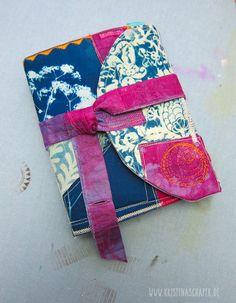 Buch selbst binden mit Stoffeinband aus verschiedenen Stoffen