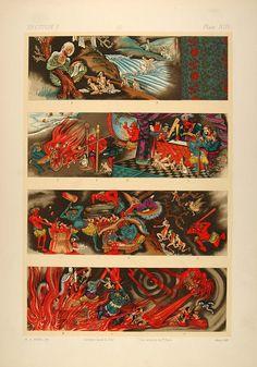 1883 Japanese Art Buddhist Hell Makimono Naraka Scroll - ORIGINAL OJ1 - Period…