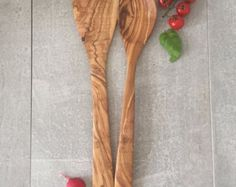 Olive Wood Kitchen Utensils Wodden Spoon Rustic Ladle