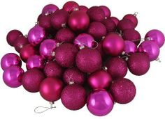 24 Christmas Ornaments by Gordon Companies, Inc. $31.50. Picture may wrongfully represent. Please read title and description thoroughly.. This product may be prohibited inbound shipment to your destination.. Shipping Weight: 1.00 lbs. Brand Name: Gordon Companies, Inc Mfg#: 30875768. Please refer to SKU# ATR25798730 when you inquire.. 24 Christmas ornaments/pink magenta/4 finish/shatterproof/silver caps/come with hangers/2.5'' dia./made of plastic and glitter