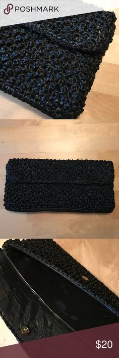 ✨Black vintage clutch made in Japan Beautiful vintage black clutch made by Marcus brothers of Miami. Made in Japan. Clear liner with button closure. In excellent condition. Marcus Brothers of Miami Bags Clutches & Wristlets