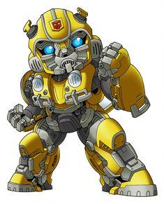 Bumblebee by benisuke on DeviantArt Transformers Drawing, Transformers Bumblebee, Transformers Optimus Prime, Chibi Marvel, Marvel Art, Chibi Superhero, Transformer Tattoo, Geek Mode, Arte Game Of Thrones