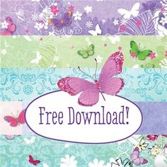We have a fantastic printable download collection for you! Log in at docrafts.com and download your free Butterfly Garden printables featuring full colour graphics and patterns.