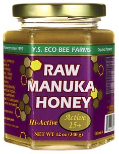 Raw Manuka Honey 15+  I love this stuff!! I make a mask out of it every day. Just spread a thin layer on your face and leave it for 10-30 minutes or longer. It clears up any blemishes and leaves my skin soft and smooth.  I also like to mix it with different scrubs and make a wonderful exfoliator!!