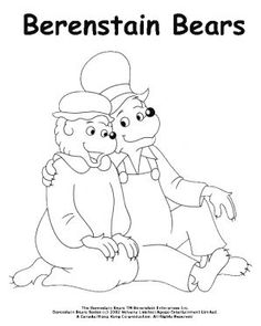 berenstain bears christmas coloring pages - photo#26