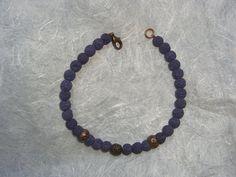 Bracciale in lava blu e rame, by The Magic Daisy, 8,50 € su misshobby.com