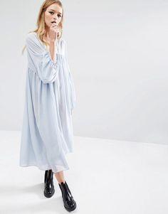 Reclaimed Vintage | Reclaimed Vintage Angel Sleeve Dress In Sheer at ASOS